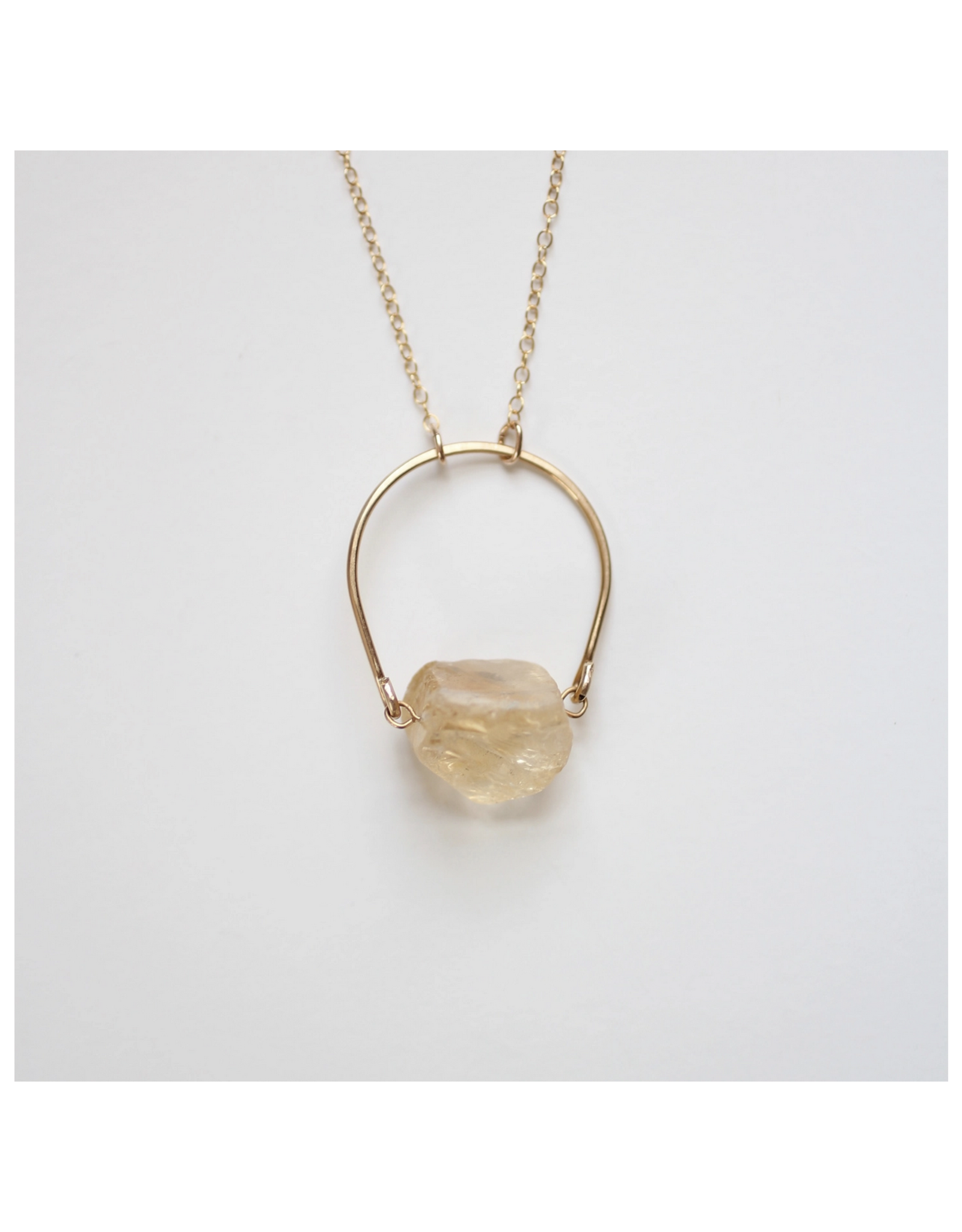 Arch Citrine Raw Crystal Necklace