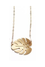 Small Monstera Leaf Necklace