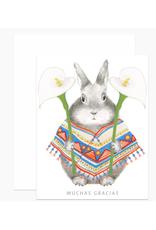 Muchas Gracias Bunny Greeting Card
