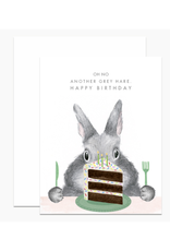 Another Grey Hare Birthday Greeting Card