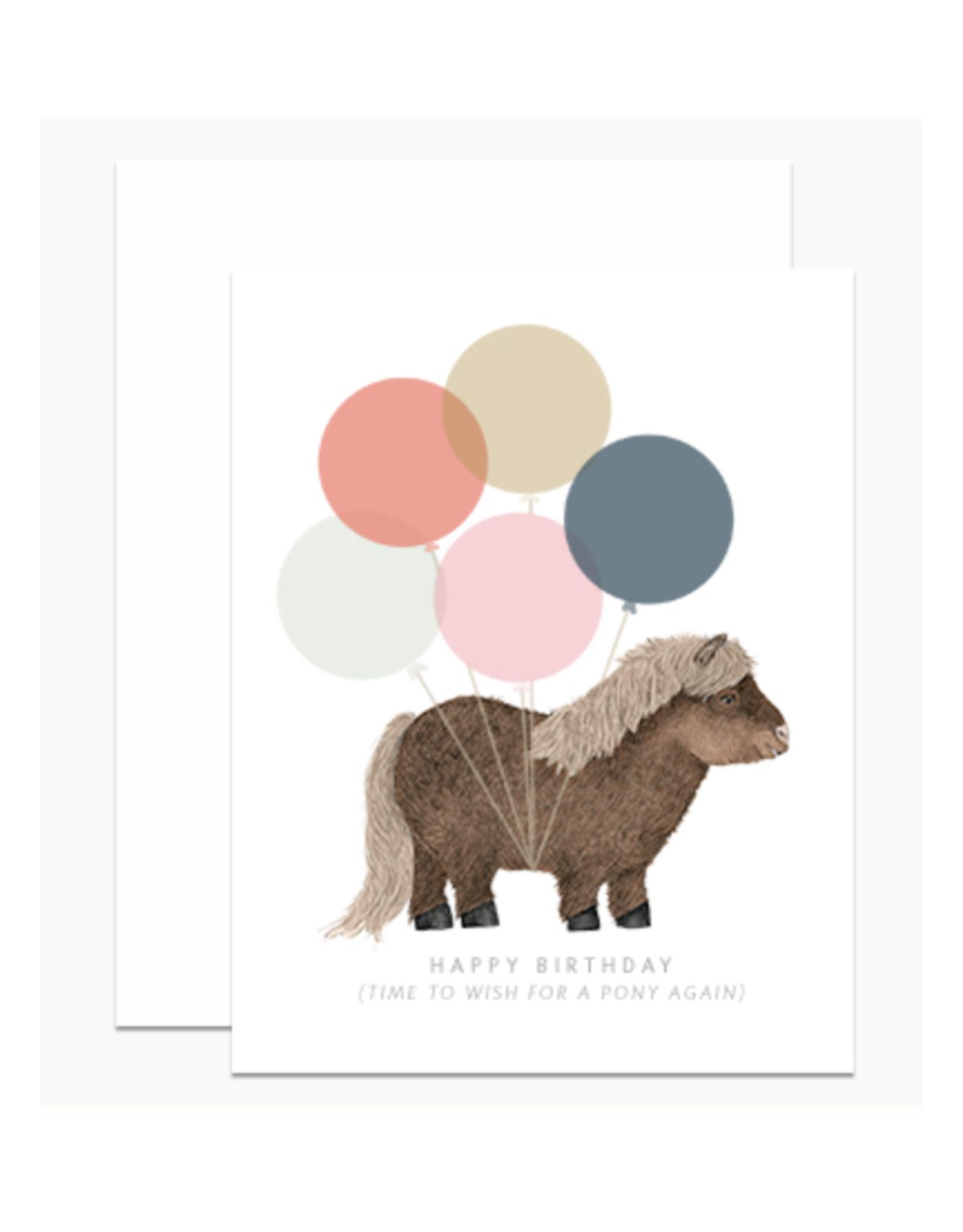 Happy Birthday Pony Greeting Card