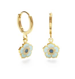 Pansy Huggies Earrings - Blue