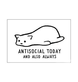 Antisocial Today Cat Magnet
