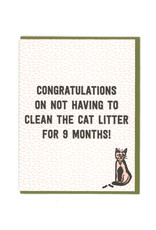 No Litter Box for 9 Months Greeting Card