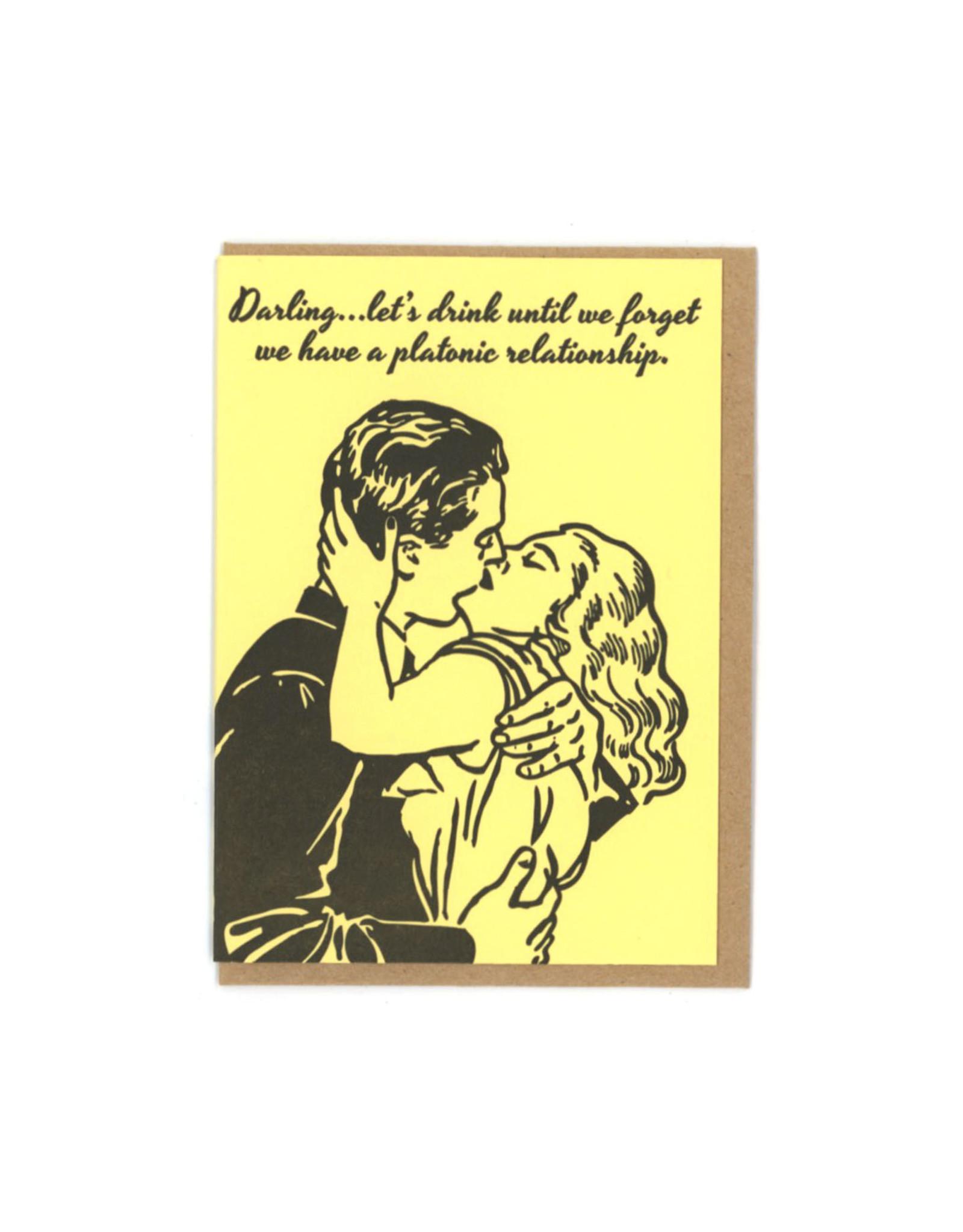Platonic Relationship Greeting Card