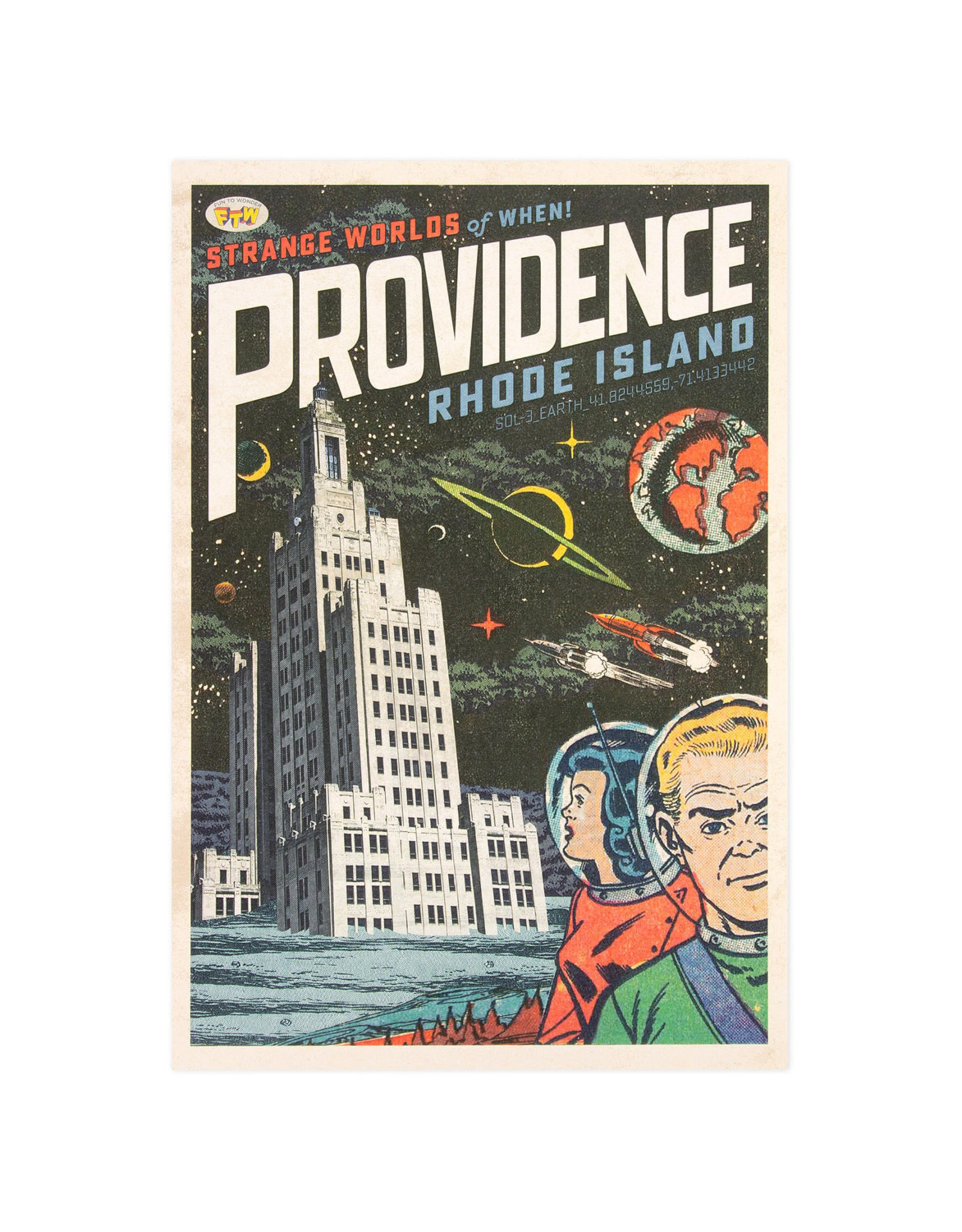 Strange Worlds of When! Print - Superman Building