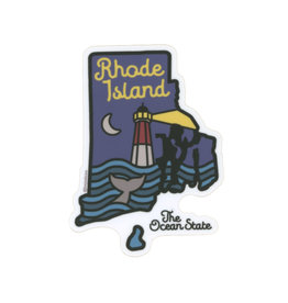 Rhode Island By Night Sticker