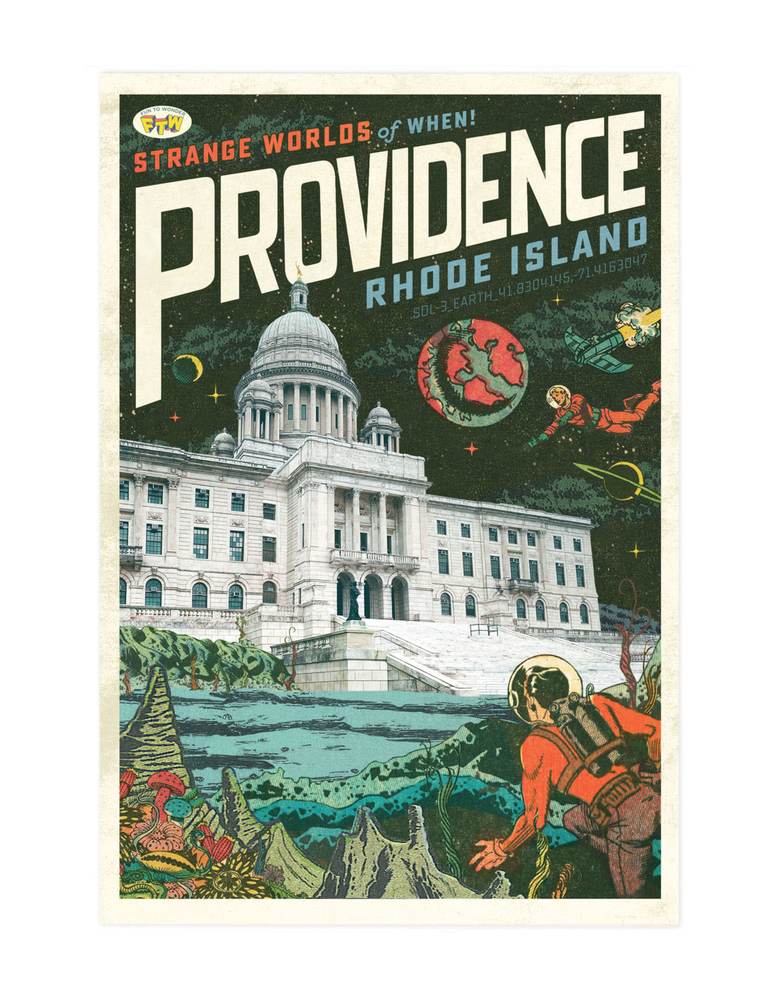 Strange Worlds of When! Print - State House