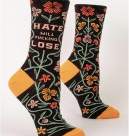 Hate Will Fucking Lose Women's Crew Socks
