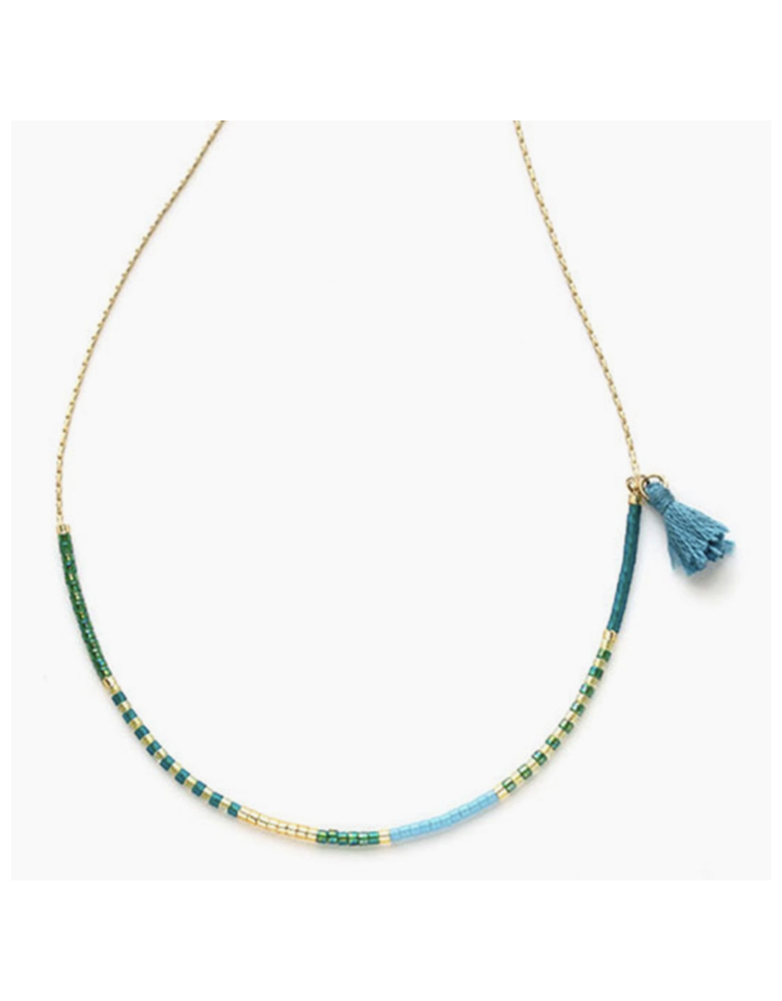 Japanese Seed Bead Necklace - Seashore & Succulents
