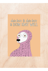 Doing Knit Well Greeting Card