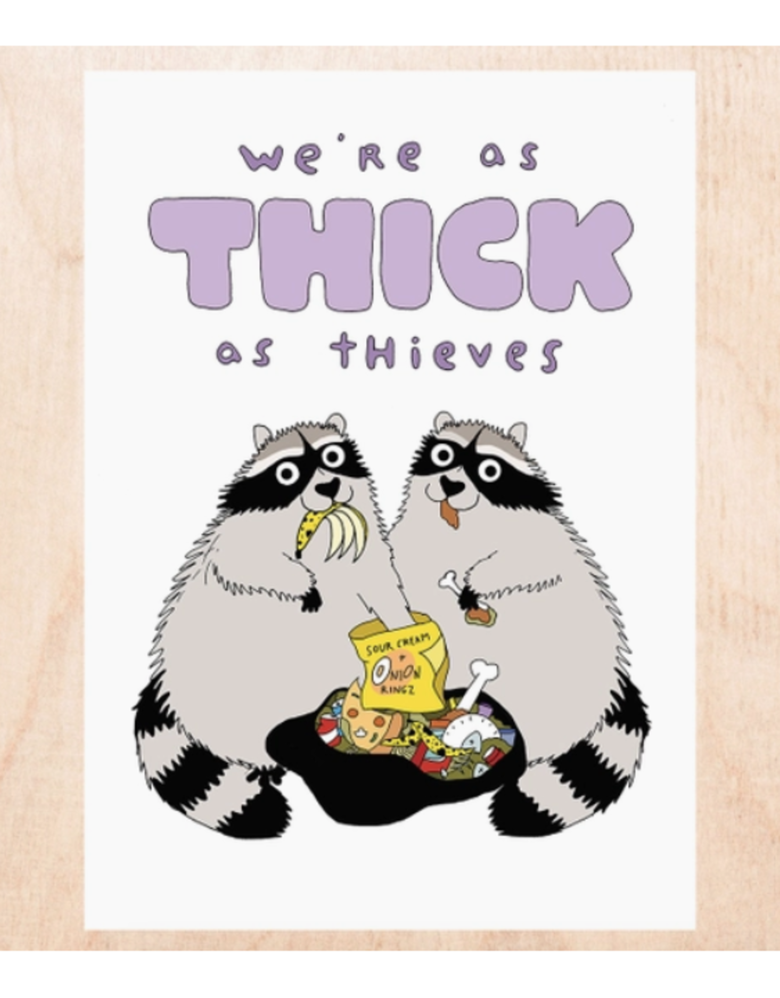 Thick as Thieves Raccoon Greeting Card