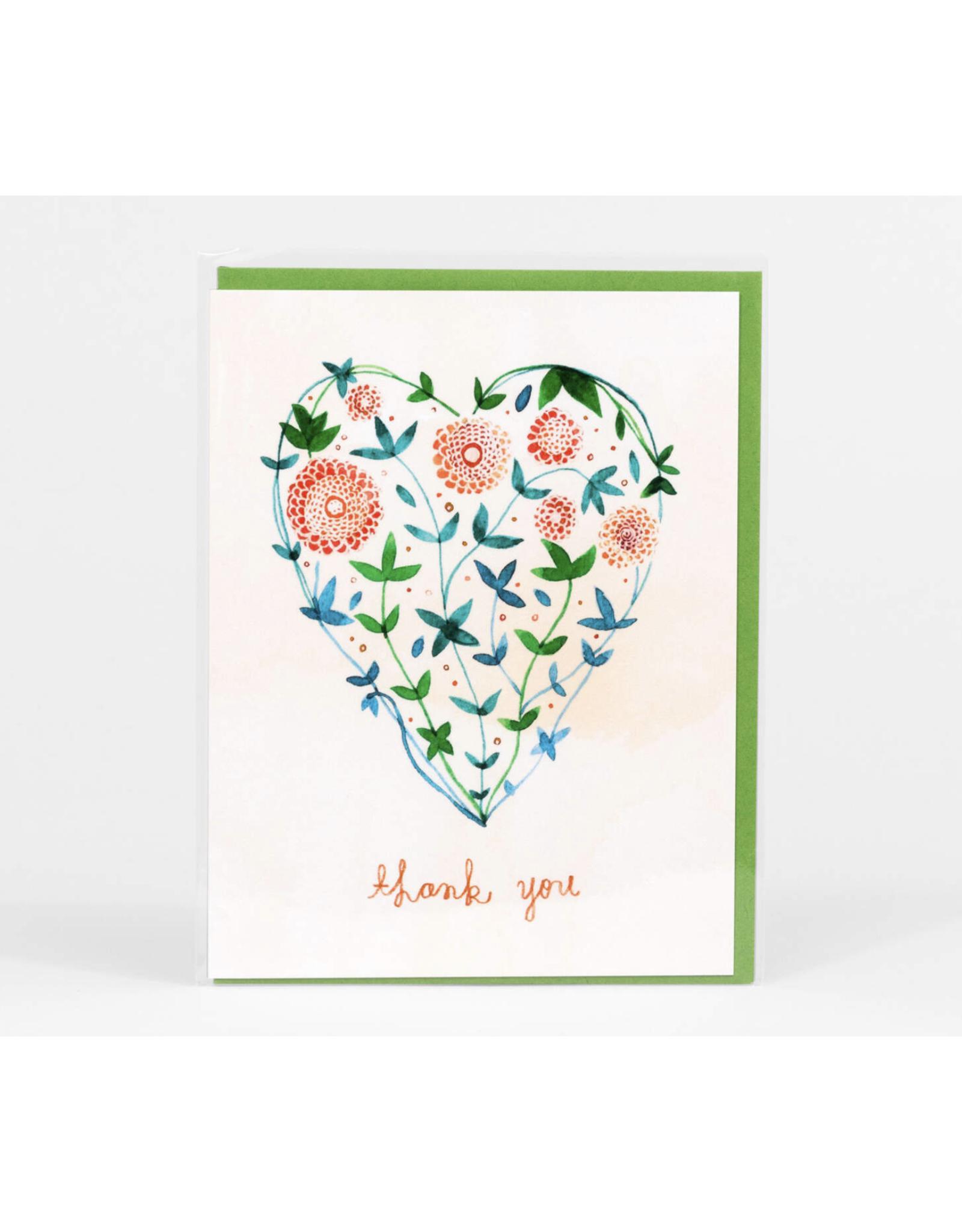 Thank You Garden Heart Greeting Card