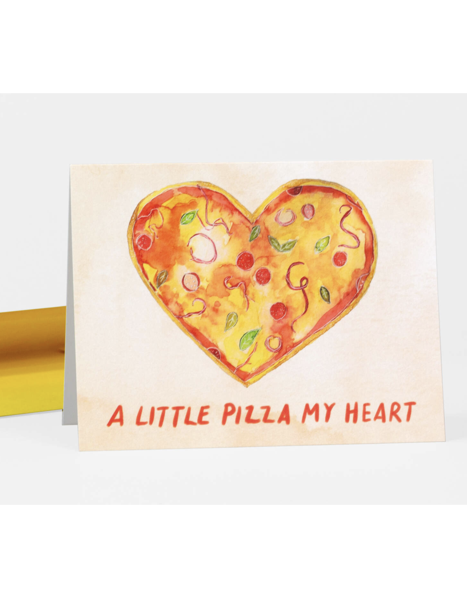 A Little Pizza My Heart Greeting Card