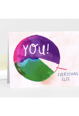 You > Everything Else Pie Chart Greeting Card