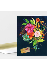Thank You Bouquet Navy Greeting Card