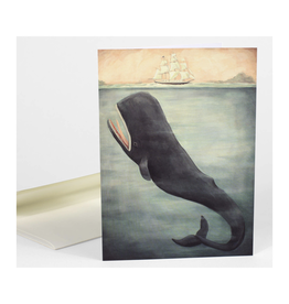 Leviathan Below Whale Greeting Card