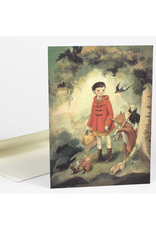 Out of the Woods Red Riding Hood Greeting Card