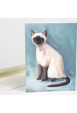 Alistair Siamese Cat Greeting Card