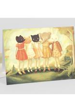 Five Friends Masquerade Greeting Card
