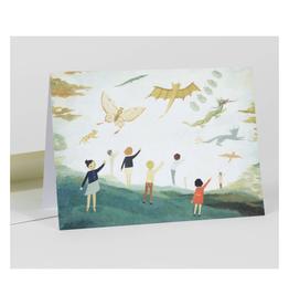 Flying Kites Greeting Card