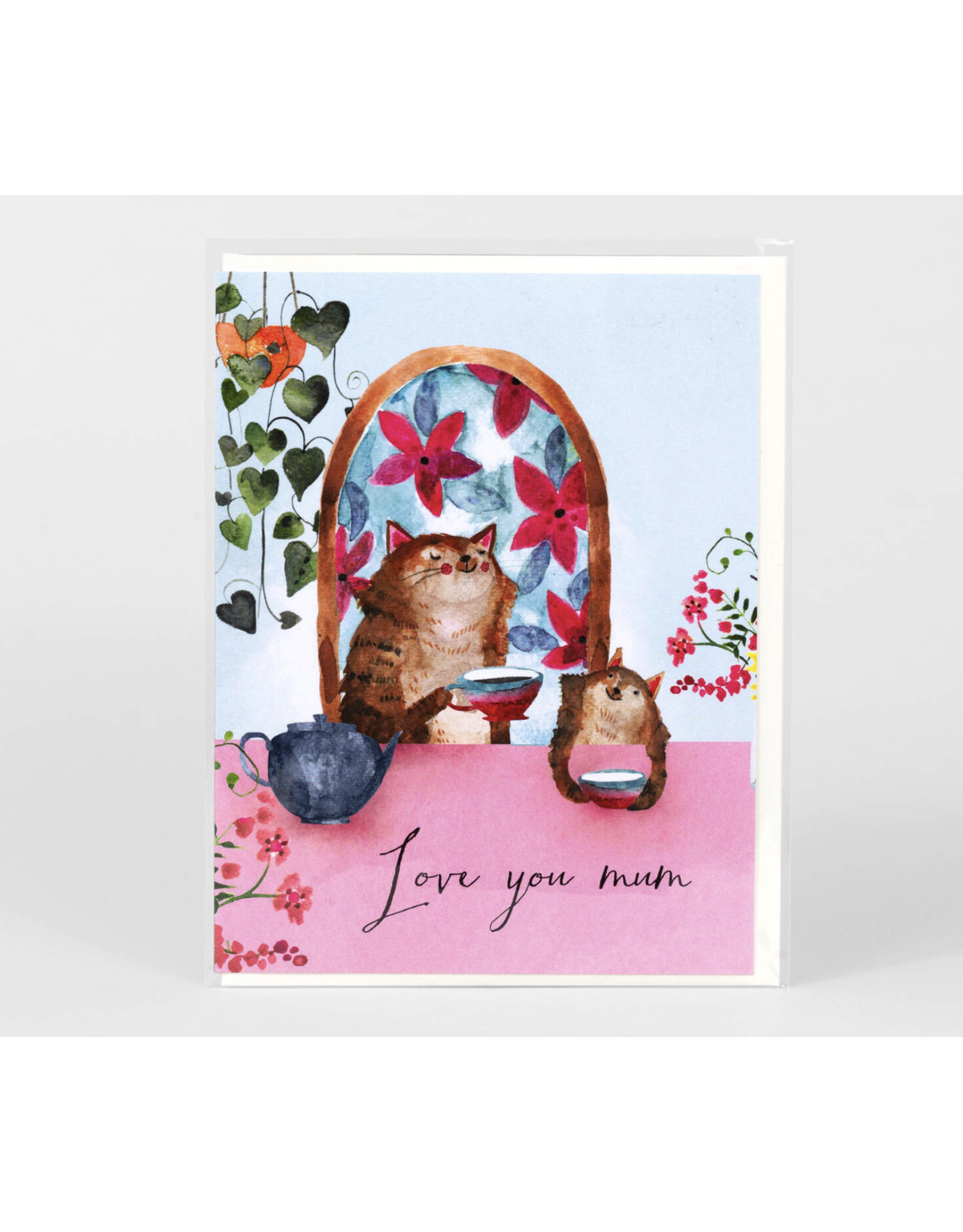 Love You Mum Cats Greeting Card