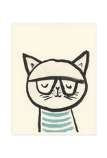 Cat with Glasses Print
