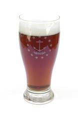 RI Flag Pilsner Glass
