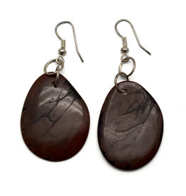 Tagua Nut Earrings - Chocolate