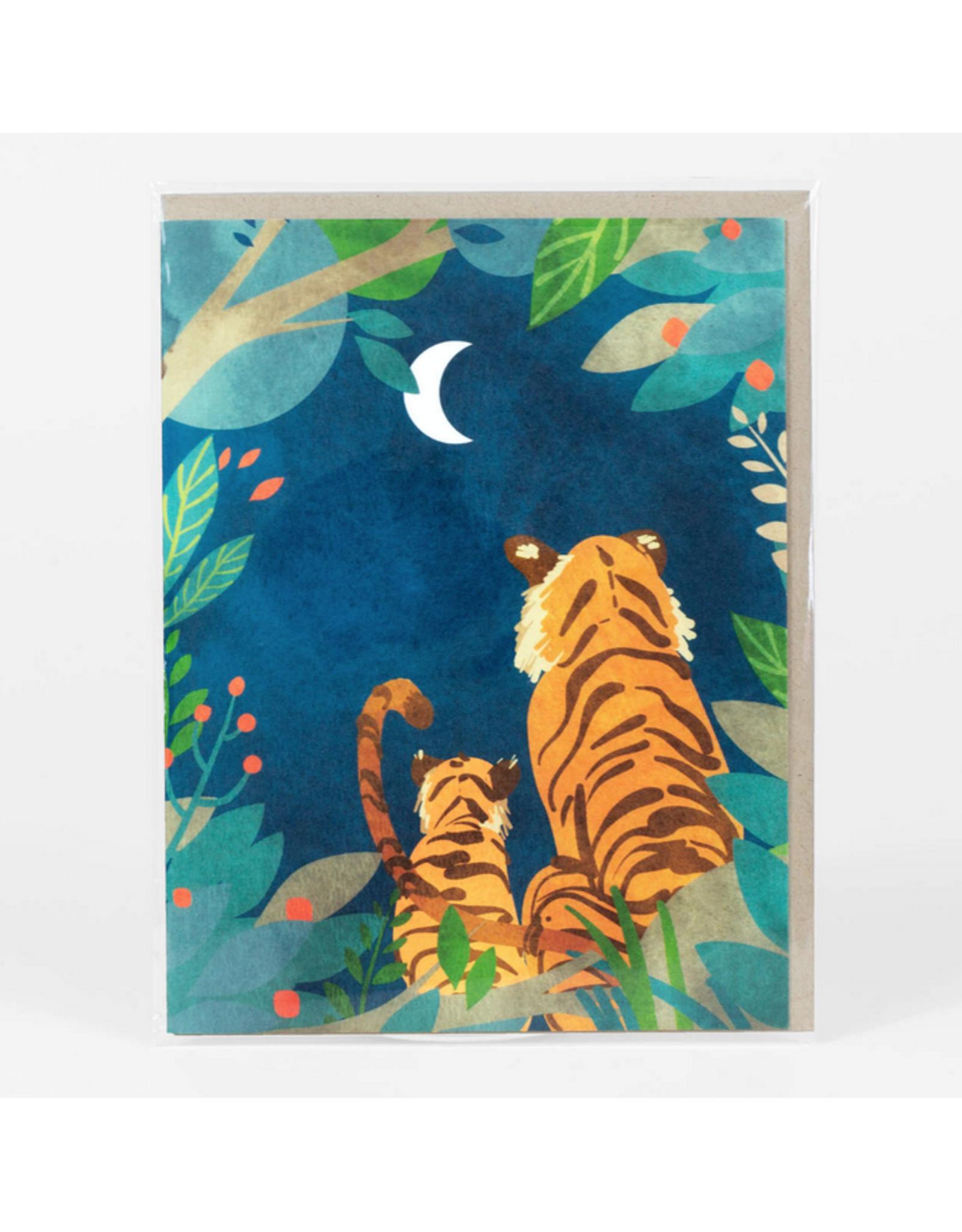 Tigers at Night Greeting Card