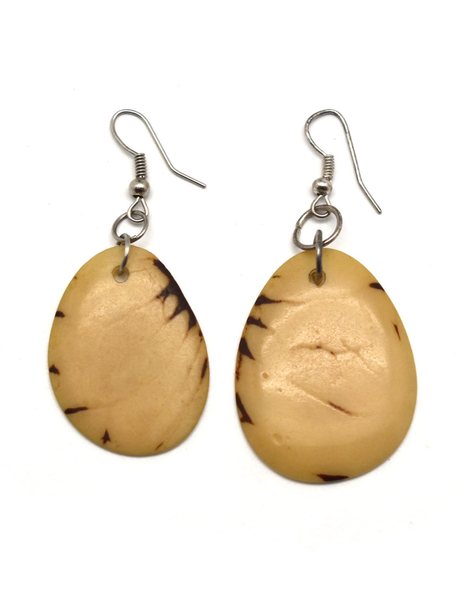 Tagua Nut Earrings - Natural