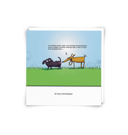 Redback Cards Dog Butt Connoisseur Greeting Card