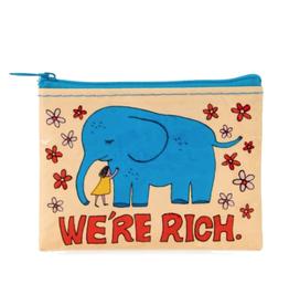 We're Rich Elephant Coin Purse