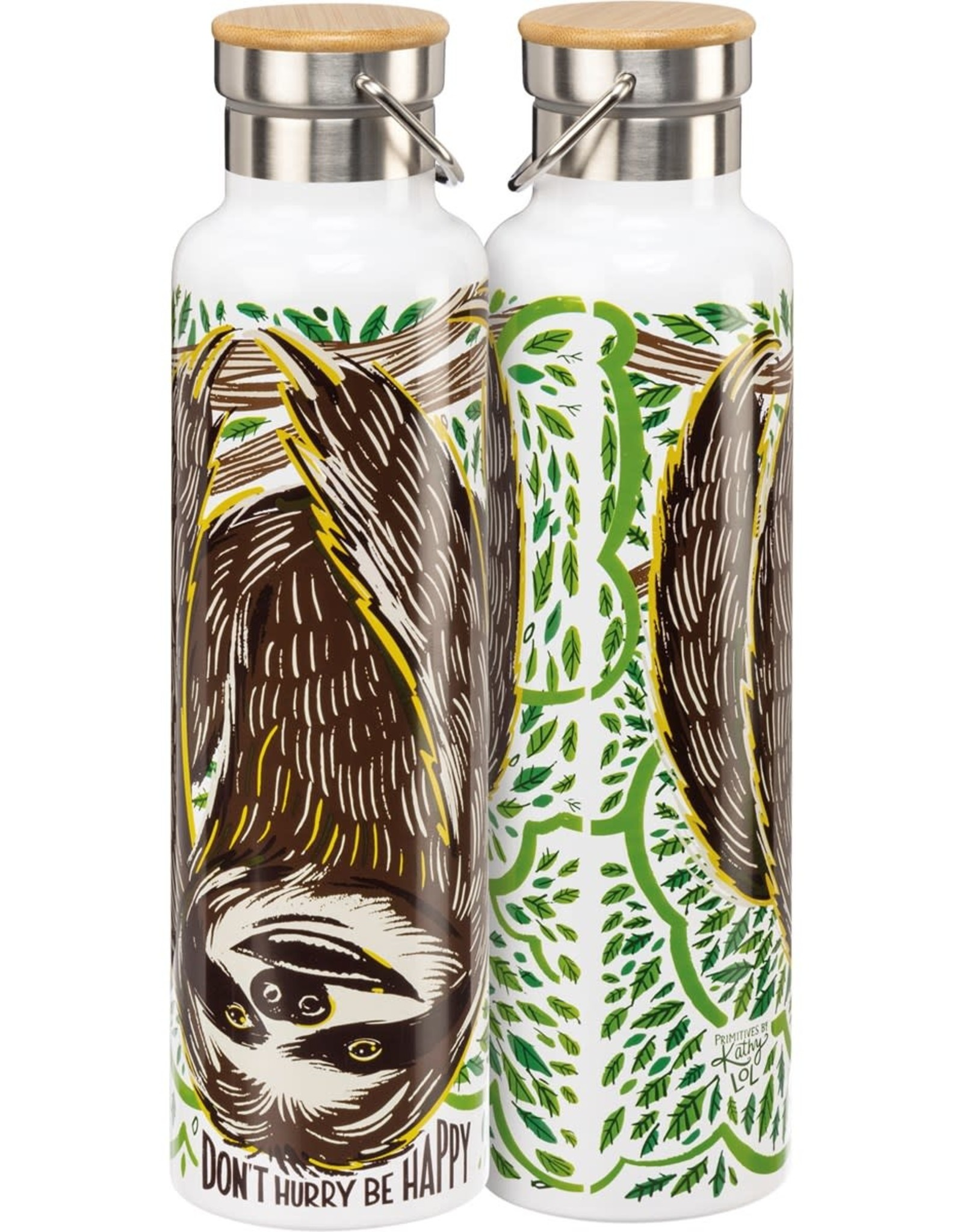 Don't Hurry Be Happy (Sloth) Insulated Bottle