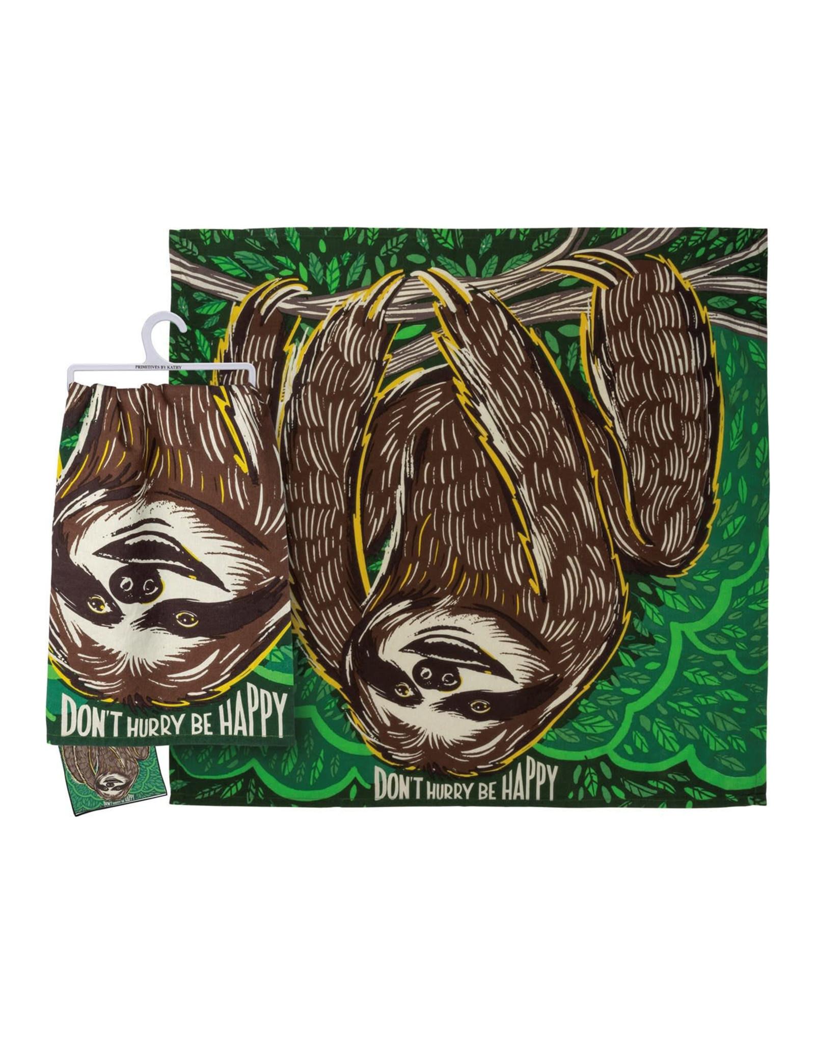 Don't Hurry Be Happy (Sloth) Dish Towel
