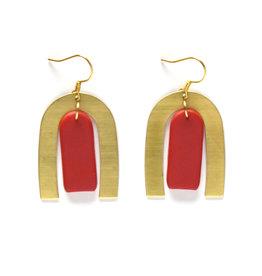 Aretha Earrings Crimson