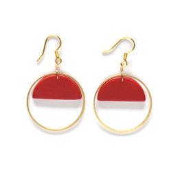 Asha Earrings Crimson