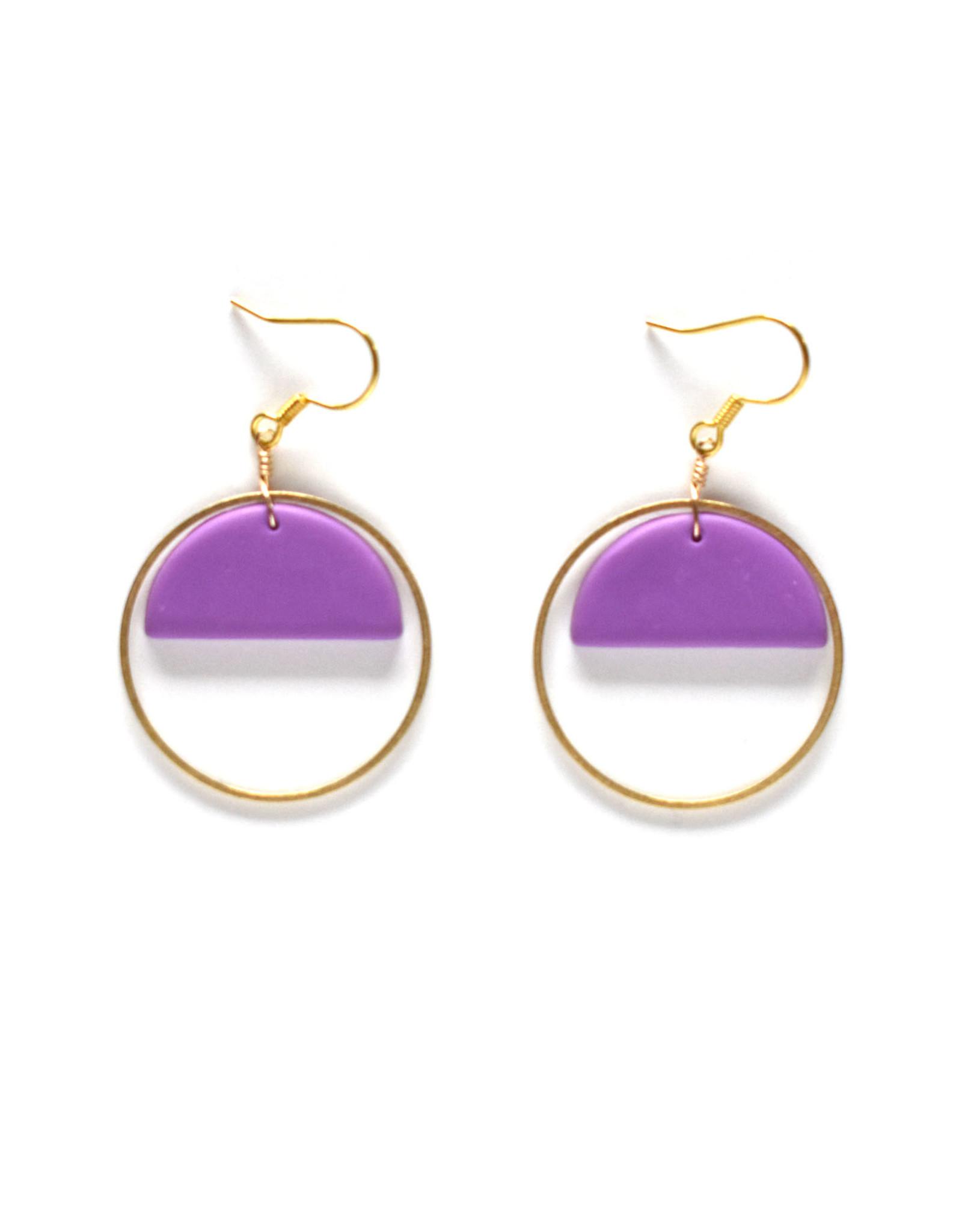 Asha Earrings Lilac