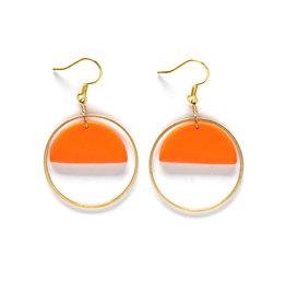 Asha Earrings Tangerine
