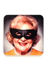 Masked Betty White Coaster