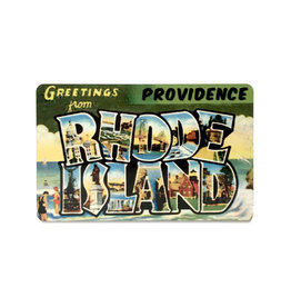 Greetings from Providence, RHODE ISLAND Magnet - Green