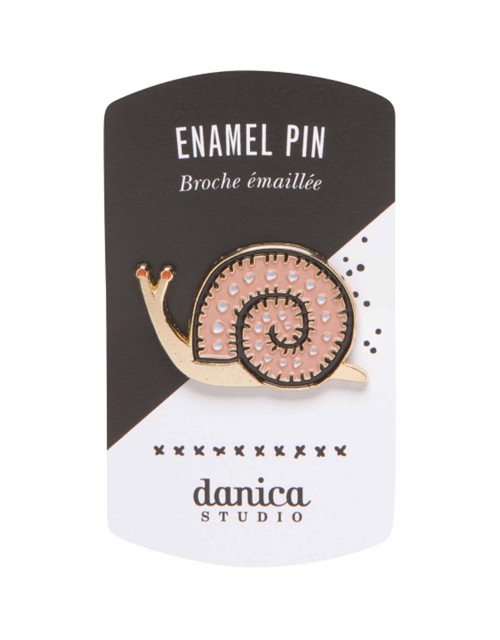 Small World Snail Enamel Pin