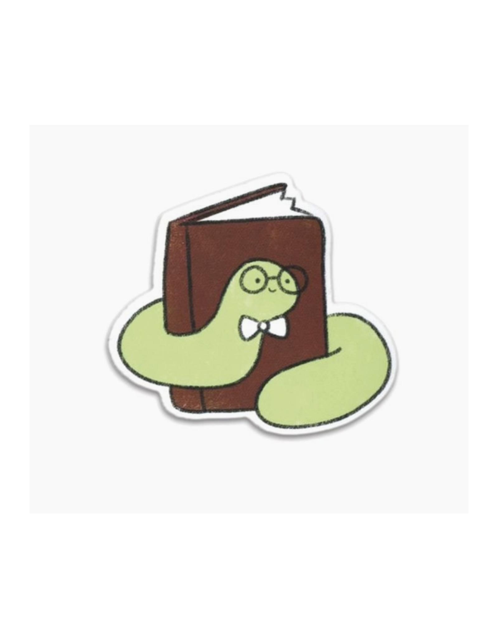 Bookish Worm Vinyl Sticker