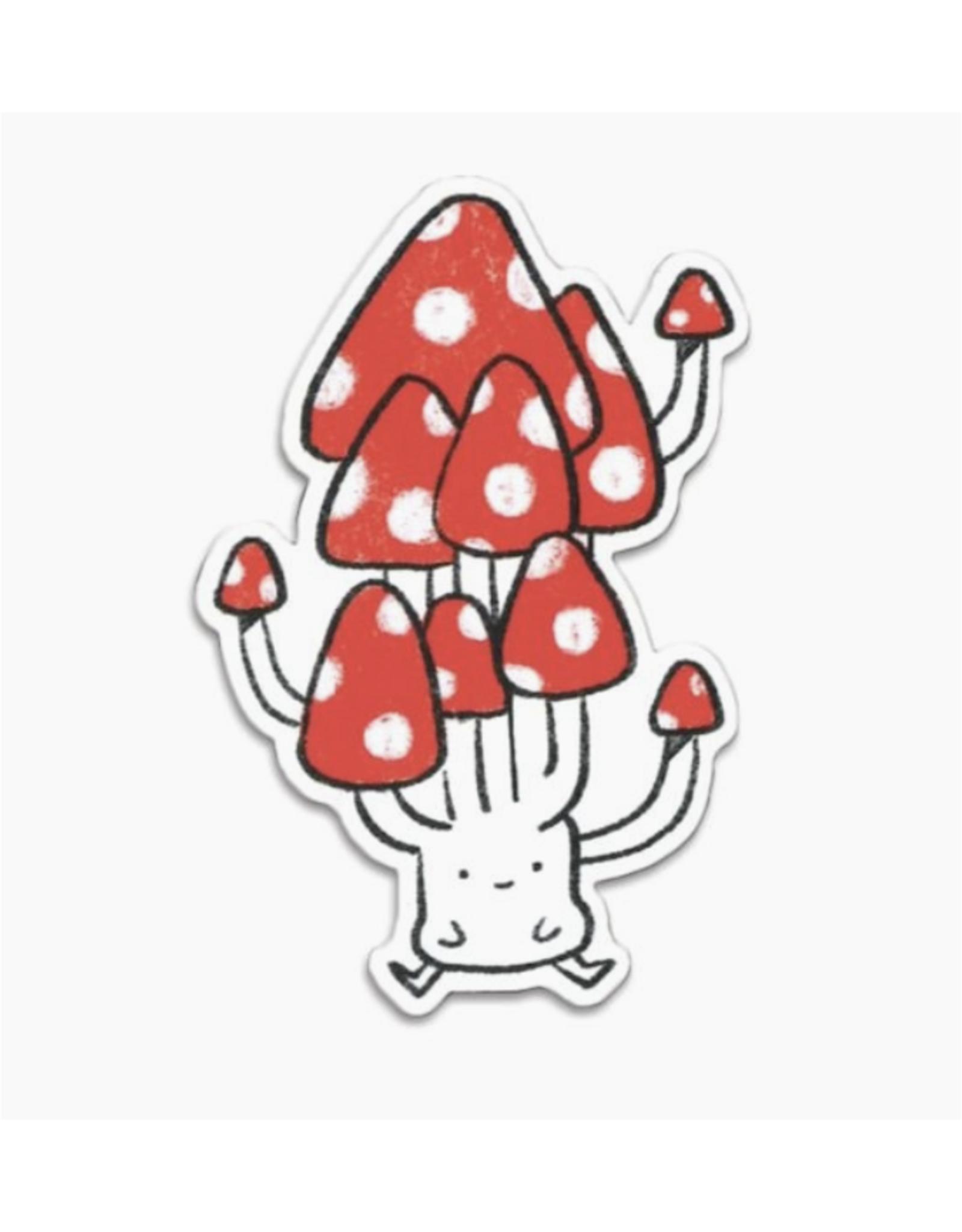 Cute Mushroom Vinyl Sticker
