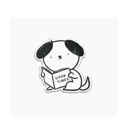 Good Times Dog Vinyl Sticker