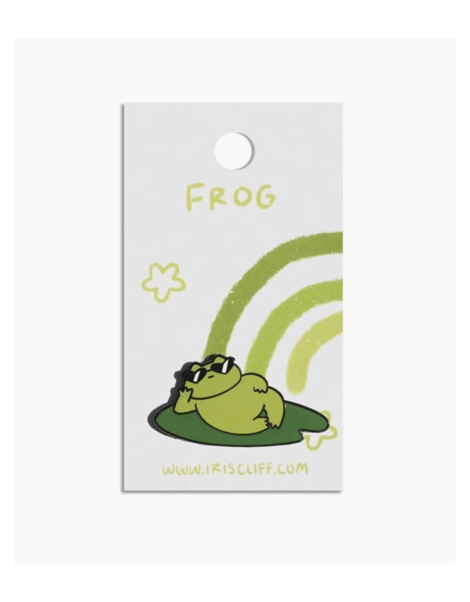 Cool Frog Lily Enamel Pin