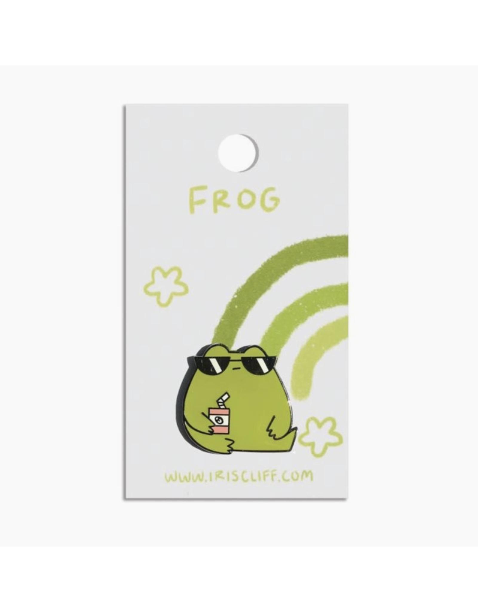 Tuff Frog Enamel Pin