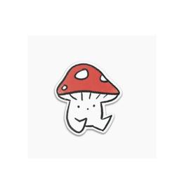 Little Cap Mushroom Vinyl Sticker