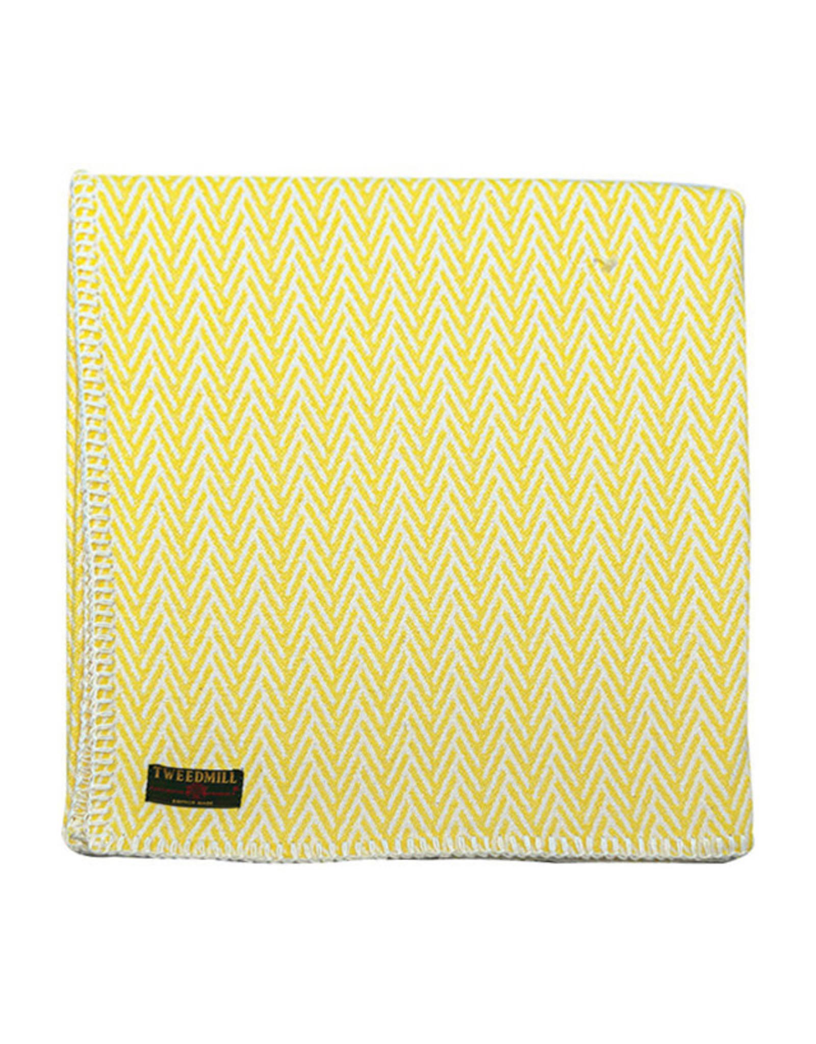 Herringbone Throw -  Yellow