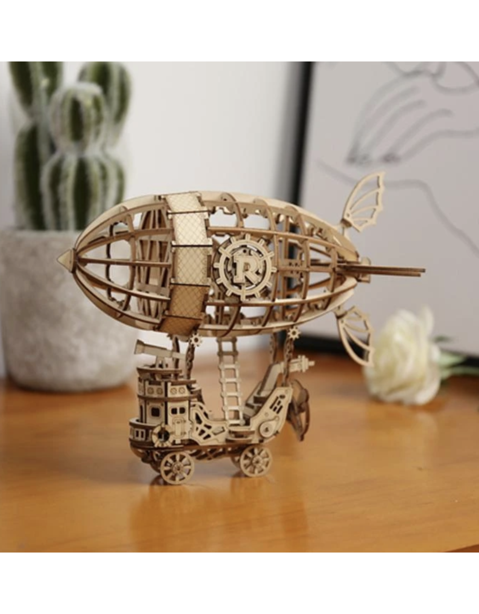 Modern Wooden Puzzle : Airship
